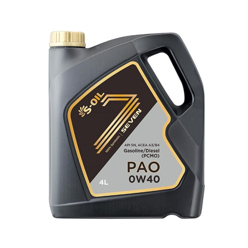 S-Oil Seven PAO A3/B4 0W40 4л