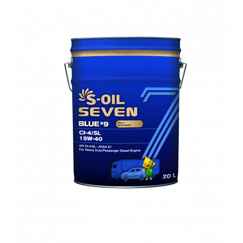 S-Oil 7 BLUE#9 CI-4/SL 15w-40 20л